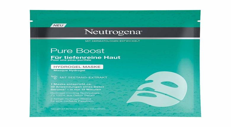 Maschera Viso Neutrogena Pure Boost Idrogel