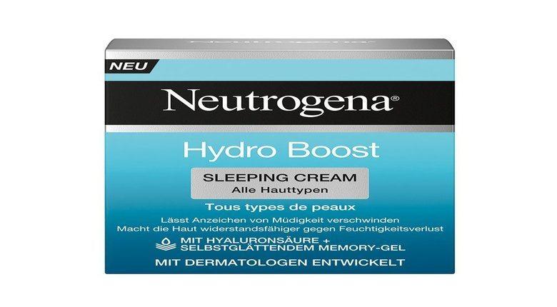 Neutrogena Hydro Boost Night Concentrate Sleeping
